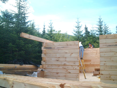 Log Cabin Construction In Maine Project Pictures