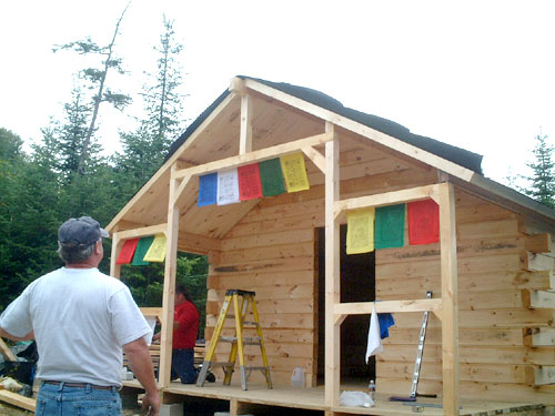 Log Cabin Kit Construction In Maine Project Pictures