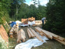 Log Cabin Kit Construction in Maine Step 1