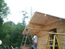 Log Cabin Kit Construction in Maine Step 34