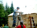 Log Cabin Kit Construction in Maine Step 35