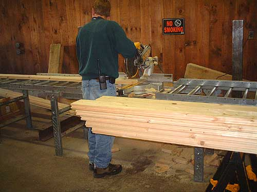Merveilleux Cutting 2x^ Tongue And Groove Decking   Log Cabin Kit Picture